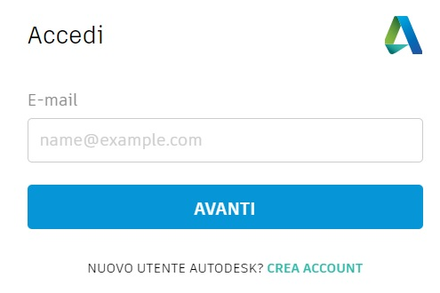 3. Accesso all'account Autodesk